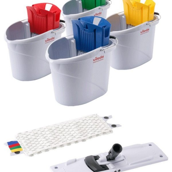 UltraSpeed Mini Mopping Kit inc Bucket, Wringer, Frame & Mop Head - NO HANDLE