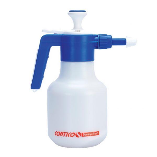 1.5L Pump Up Sprayer with Acid Resistant Viton Seals. Blue top White bottle.