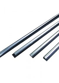 Unger Stainless Steel Window Squeege Channel with Soft Rubber