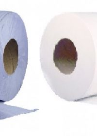 6 x 150m Absorbent Centre Feed Rolls 2-Ply Embossed