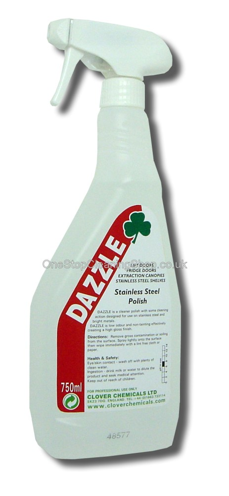 DAZZLE STAINLESS STEEL POLISH CLEAN CLEANER CLEANING CLOVER CHEMICALS