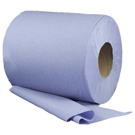 CENTRE FEED ROLLS 2 PLY BLUE EMBOSSED 6 X 150M