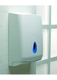 White Plastic Hand Towel Dispenser