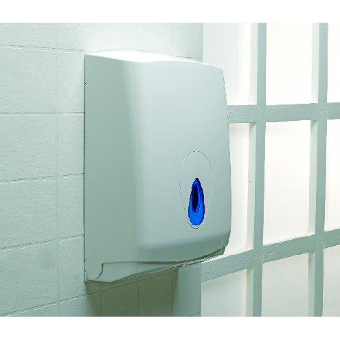 White Plastic Hand Towel Dispenser
