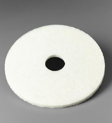 Box of 5 White Dry Polishing Floor Pads