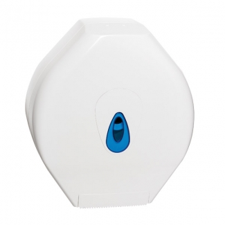 Mini Jumbo Toilet Roll Disp Plastic Wht