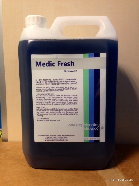 5L MEDIC FRESH CARPET DETERGENT
