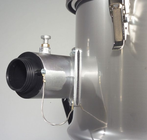 Close up on inlet of NTT2003 drum