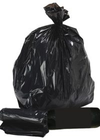 "200 Black Refuse Sacks 18""x29""x39"""