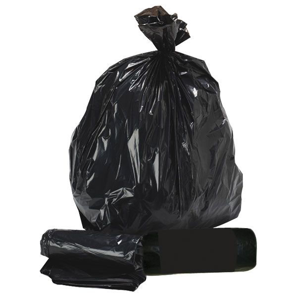 REFUSE SACKS BLACK BIN LINERS RECYCLED