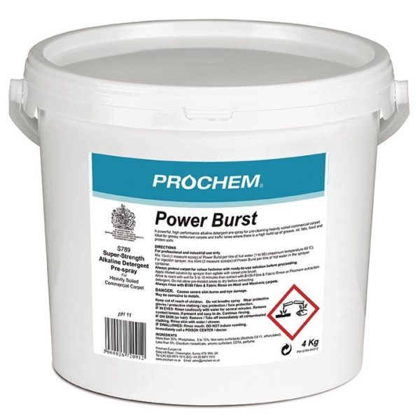 4Kg Prochem Powerburst Pre-Spray for Heavily Soiled Carpets