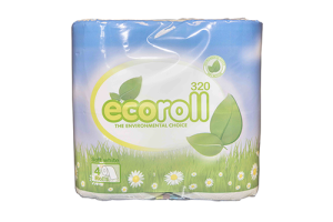 100% Recycled Toilet Rolls 320 Sheets Pack of 36