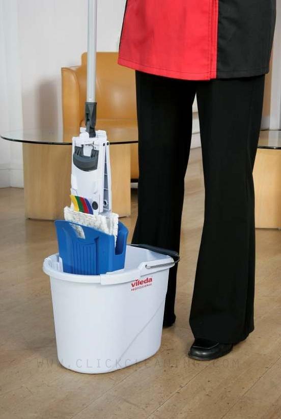 UltraSpeed Mini Blue Mopping Kit inc Bucket, Wringer, Frame & Mop Head - NO HANDLE-3052