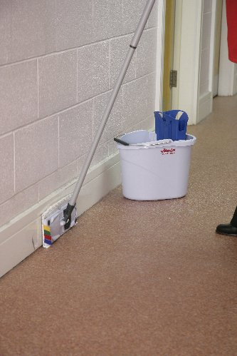 UltraSpeed Mini Blue Mopping Kit inc Bucket, Wringer, Frame & Mop Head - NO HANDLE-3051