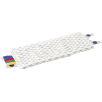 UltraSpeed Mini Microlite Microfibre Mop Head White with Popper Buttons & Coloured Tags