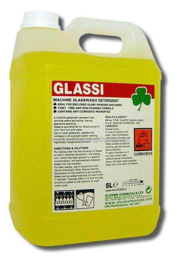 GLASSI CLOVER CHEMICAL 5 LITRE MACHINE GLASS GLASSWARE WASH