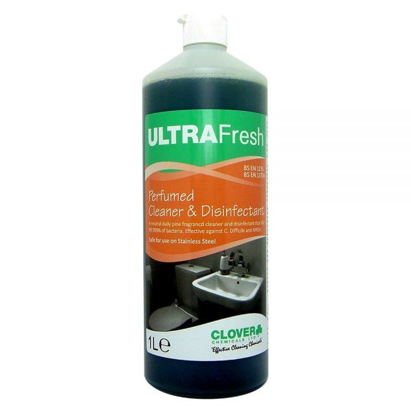 ULTRAFRESH TOILET CLEANER 1 LITRE CLOVER CHEMICALS CLEANING