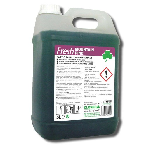 FRESH MOUNTAIN PINE CLOVER CHEMICALS DISINFECTANT