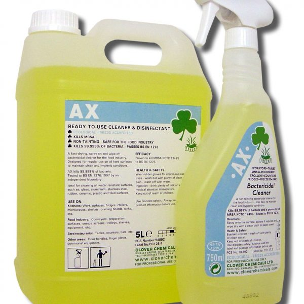 Clover AX Bactericidal Cleaner (Alco-Cleanse)