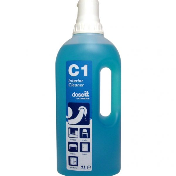 1L C1 Dose IT Super concentrated Interior Cleaner Blue - 1 Dose per Trigger Spray