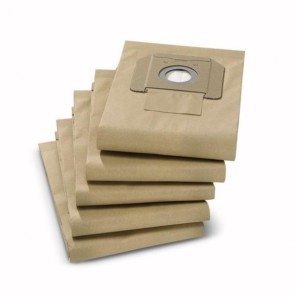 Pk of 10 Paper Filter Bags for BV 5/1 Karcher Back Pack-0