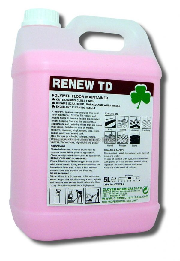 RENEW TD POLYMER FLOOR MAINTAINER CLOVER CHEMICALS
