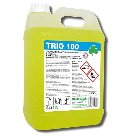 TRIO 100 CLOVER CHEMICAL 5 LITRE HARD SURFACE CLEANER