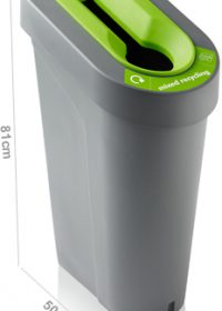 uBin Recycling Bin Base & Lid - Grey 70 litre