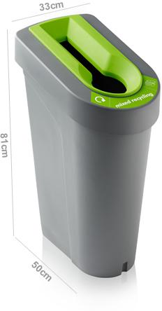 uBin Recycling Bin Base & Lid - Grey 70 litre