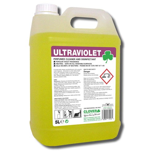 5L Ultraviolet Cleaner Disinfectant & De-odourises. Smells of parmaviolets!