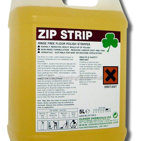 5L Clover Zip Strip - Solvent based rinse free stripper