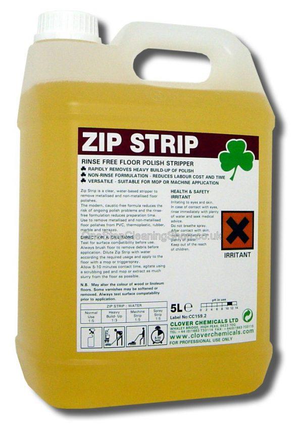 ZIP STRIP SOLVENT STRIPPER POLISH REMOVER CLOVER CHEMICALS