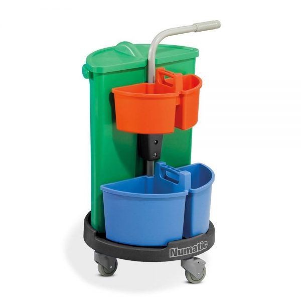 NC3G Numatic Carousel 1 x 70L Bin & Small Caddies Mounted on Wheeled Base