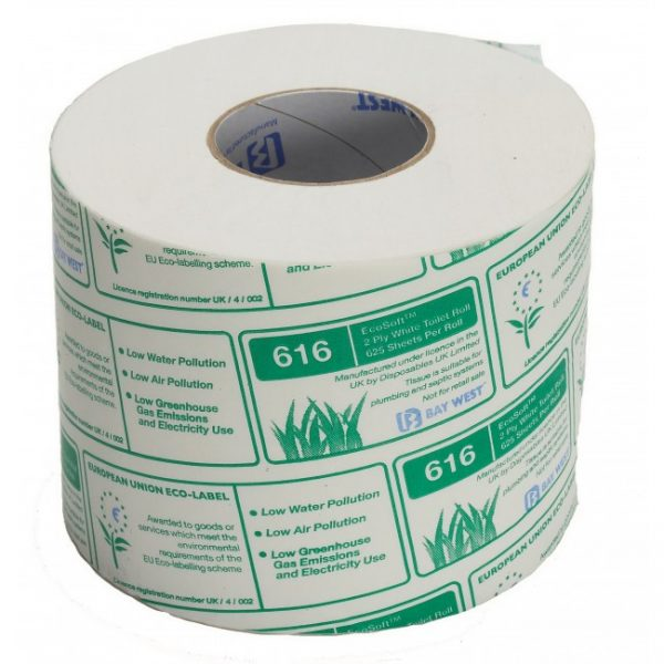 Bay West 36 Rolls Toilet Rolls Ecosoft 2 Ply