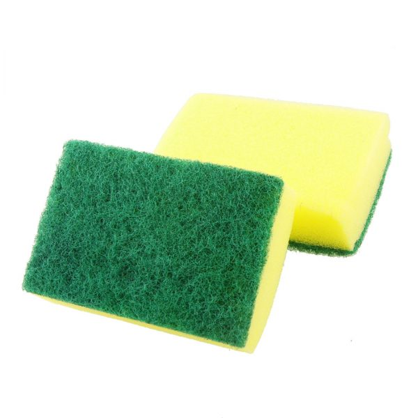 "Pk of 10 6"" x 4"" Eco Sponge Scourers"