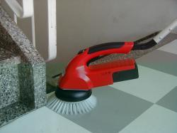 "Scrubby Motor Scrubber - Battery Driven Scrubber c/w 6"" Pad Drive & Scrubbing Brush-3826"
