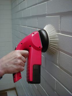 "Scrubby Motor Scrubber - Battery Driven Scrubber c/w 6"" Pad Drive & Scrubbing Brush-3825"