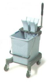Vileda Ultraspeed Professional Mopping Kit includes 25L Bucket, Press Wringer, Wheeled Base, Mop Frame, 1 x Microfibre Mop & Standard Mop Handle-3776