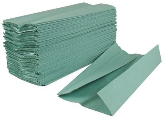 INTERFOLD TOWEL HAND TOWELS GREEN CLEAN DRY CLEANING