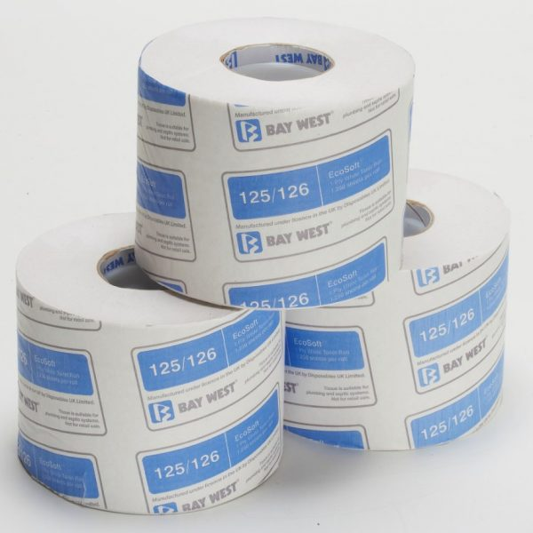Ecosoft Toilet Roll Case 36 Rolls of 1,250 Sheets. 1 Ply
