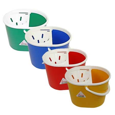 Plastic Socket Mop Bucket with Handle & Sieve