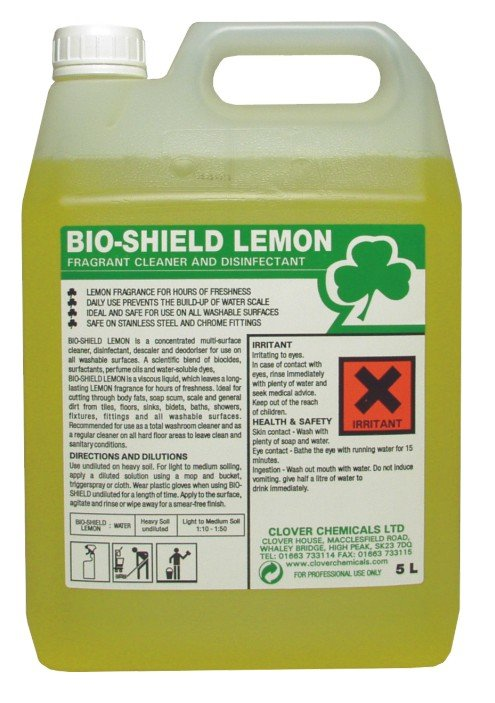 BIO SHIELD BIO-SHIELD CLEANER DISINFECTANT CLOVER CHEMICALS