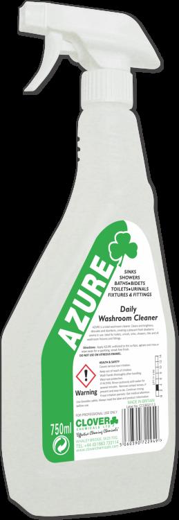 AZURE DAILY WASHROOM CLEANER TOILET SINK DESCALER CLOVER CHEMICALS