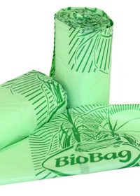 Bio Bags Roll of 20 Liners to fit a 10L caddy. Fully compostable. Liner 42cm wide x 50cm High