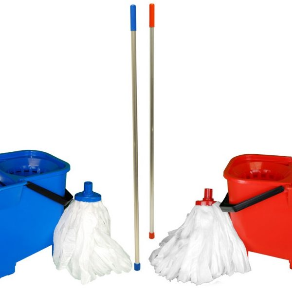 Eco Bulldog Mopping Kit - includes 1x Bucket, 1x Handle, 10x Spun Lace Mops