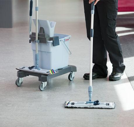 Vileda Ultraspeed Mopping Kit on Vinyl Floor