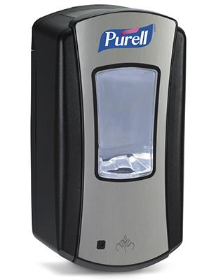 LTX-12 Purell Chrome/Black Touch Free 1200ml Dispenser