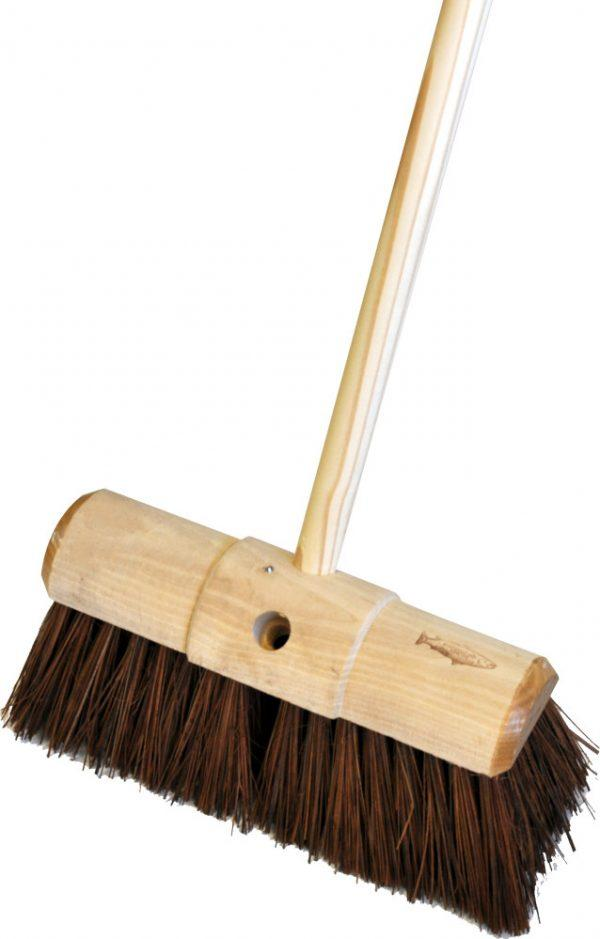 BRASS BROOM COMPLETE WITH HANDLE FLOOR CLEANING CLEAN