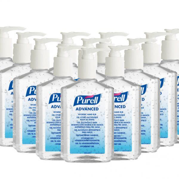 12 x 300ml Purell Hand Sanitiser Pump Bottle