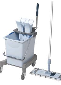 Vileda Ultraspeed Professional Mopping Kit includes 25L Bucket, Press Wringer, Wheeled Base, Mop Frame, 1 x Microfibre Mop & Standard Mop Handle
